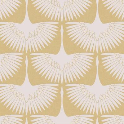 Tempaper Feather Flock Peel and Stick Wallpaper Golden Hour