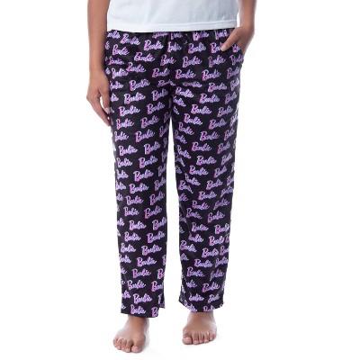 Mattel Womens' Barbie Logo All Over Print Loungewear Sleep Pajama Pants