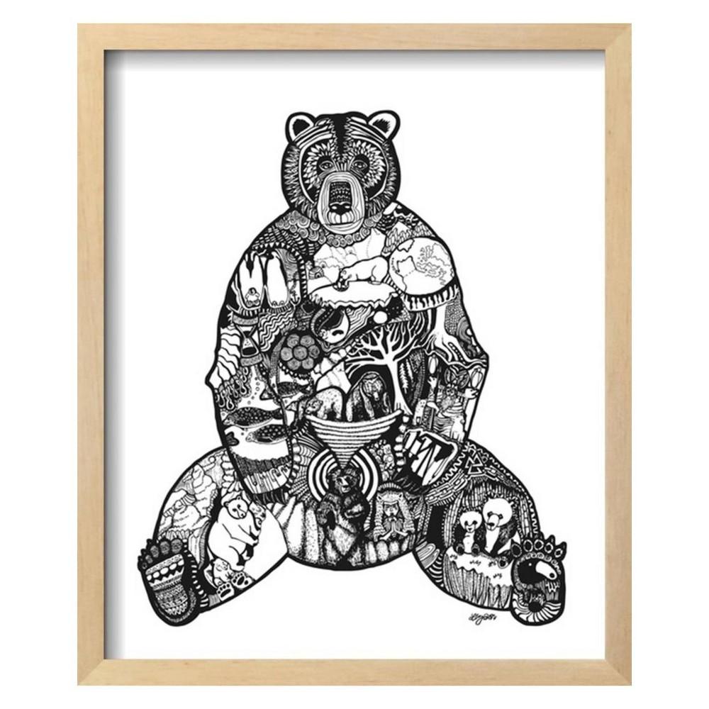 Goodbye Bear By Liz Ash Framed Wall Art Poster Print 16