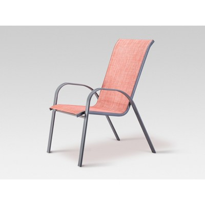 View Photos  sc 1 st  Target & Stack Sling Patio Chair Coral - Threshold™ : Target