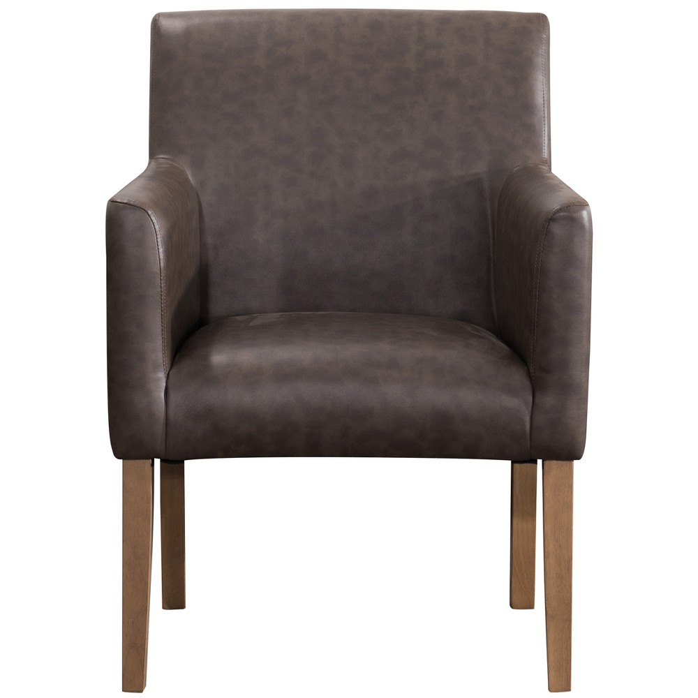 Lexington Dining Chair Brown Faux Leather - Homepop was $169.99 now $127.49 (25.0% off)