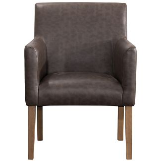 Lexington Dining Chair Cream Faux Leather - Homepop