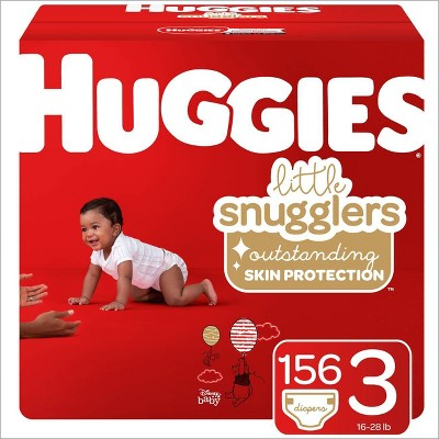 Huggies Little Snugglers Diapers - Size 3 (156ct)