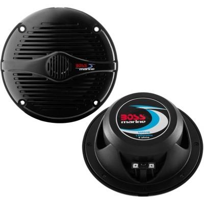 "NEW BOSS MR50B 5.25"" 2-Way 150W Marine/Boat Car Coaxial Audio Speakers Black"
