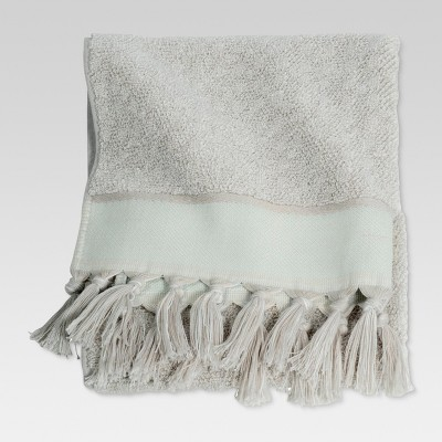 Ikat Hand Towels Gray/Green - Threshold™
