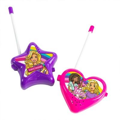 Barbie 2 Piece Walkie Talkie Set in Pink and Purple