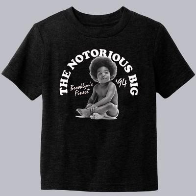 Toddler Boys' Hip Notorious BIG Short Sleeve Graphic T-Shirt - Black 4T