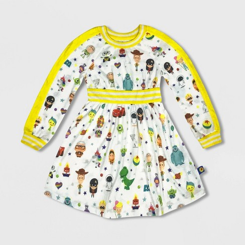 Girls' Disney World of Pixar Dress - Yellow - Disney Store - image 1 of 1
