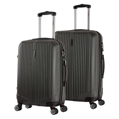 InUSA San Francisco 2pc Hardside Spinner Luggage Set 22 & 26  - Charcoal