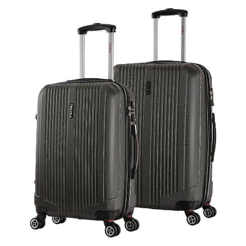 "InUSA San Francisco 2pc Hardside Spinner Luggage Set 22""& 26"" - Charcoal - image 1 of 4"