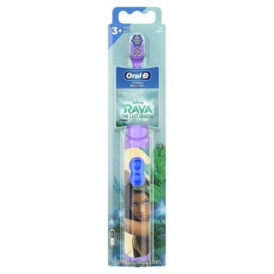 Oral-B Kids Battery Powered Electric Toothbrush Featuring Disney's Raya and the Last Dragon - Soft Bristles