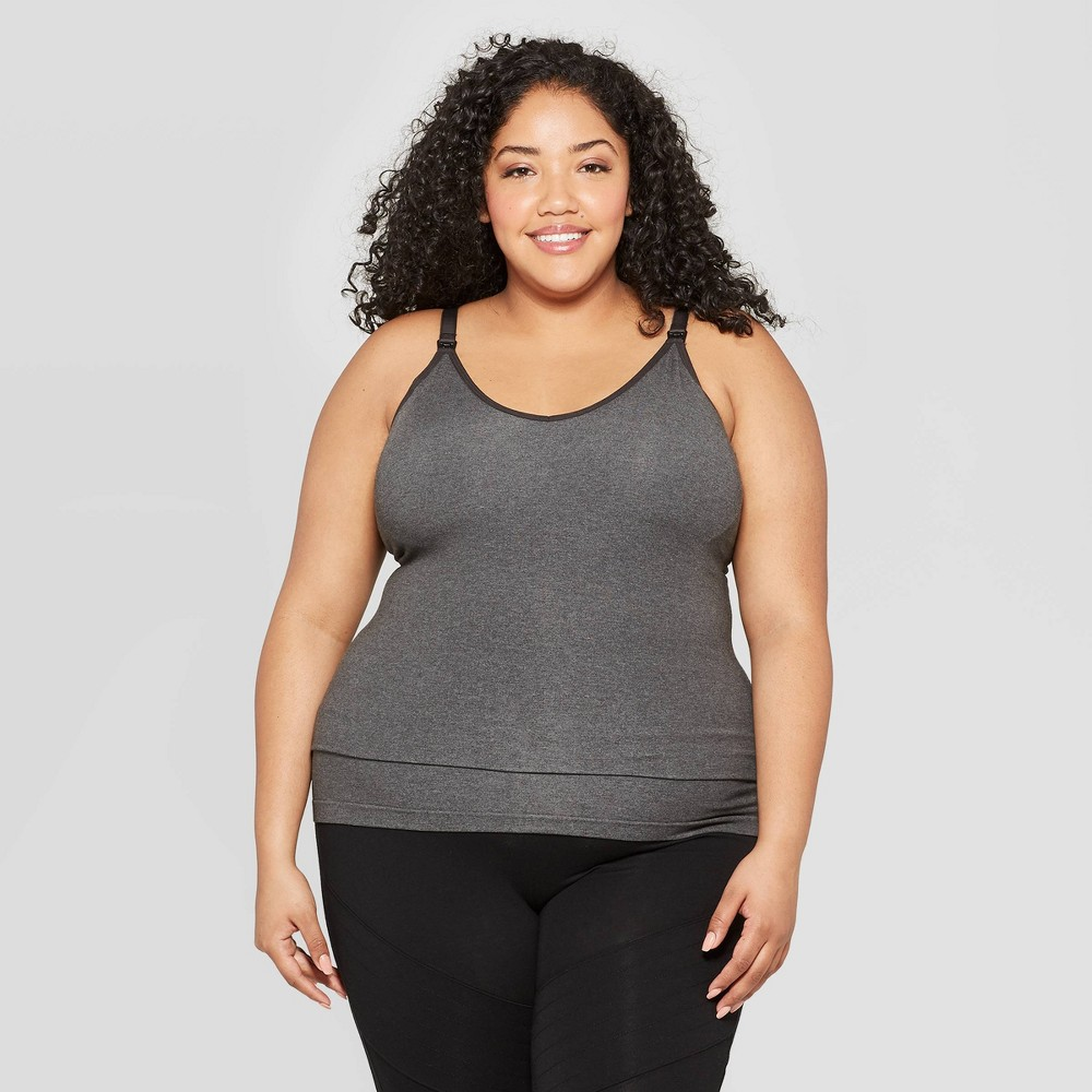 Women's Nursing Seamless Cami - Auden Heather Gray 1X