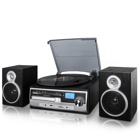Trexonic 3-Speed Vinyl Turntable Home Stereo System - image 1 of 4