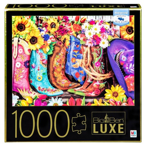 Big Ben Luxe: Boots and Flowers Puzzle 1000pc - image 1 of 1