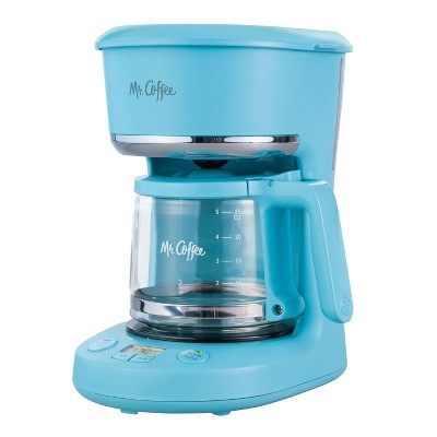 Mr. Coffee 5-Cup Programmable Coffee Maker - Artic Blue