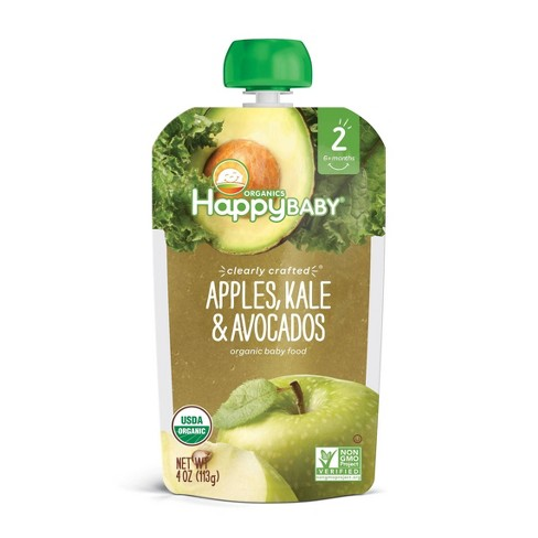 HappyBaby Clearly Crafted Apples Kale & Avocado Baby Food Pouch - (Select Count) - image 1 of 4