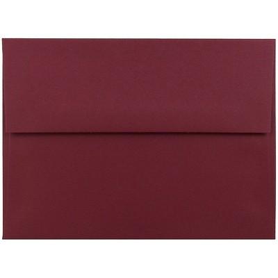 JAM Paper A6 Invitation Envelopes 4.75 x 6.5 Dark Red 157458