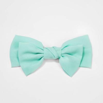 Girls' Chiffon Bow Barrette Hair Clip And Pin - Cat & Jack™ Mint