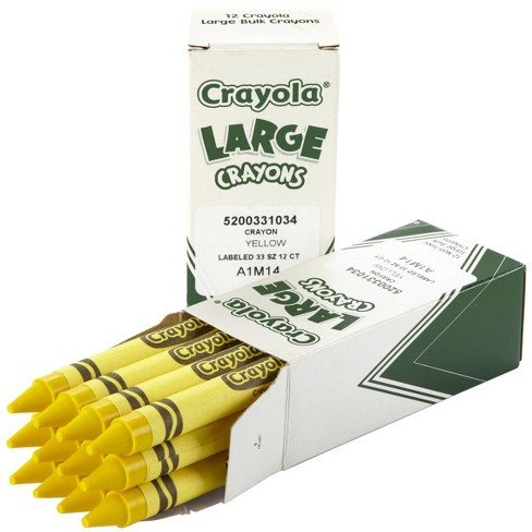 Crayola Large Non-Toxic Single-Color Crayon Refill, 4 x 7/16 in, Yellow, pk of 12 - image 1 of 1