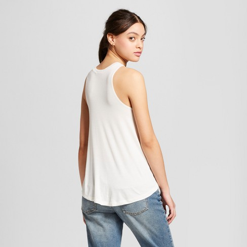 59ab2797dbb Women s Empowered Lady Scoop Neck Graphic Tank Top - Fifth Sun (Juniors )  White   Target