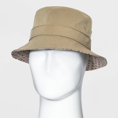 Men's Chino Bucket Hat - Goodfellow & Co™ Khaki M/L
