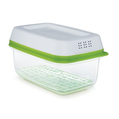 Rubbermaid 4 Cup FreshWorks Produce Saver Food Storage Container Green