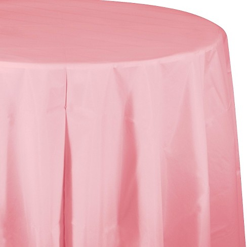 Classic Pink Disposable Tablecloth - image 1 of 3