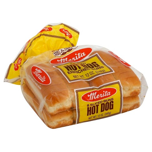 Merita® White Hot Dog Buns 8ct 12oz - image 1 of 1