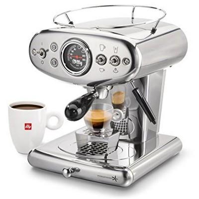 Illy X1 Espresso Machine, steamer, easy capsule operation for espresso or brewed coffee, 13 X 9.8 X 10.60
