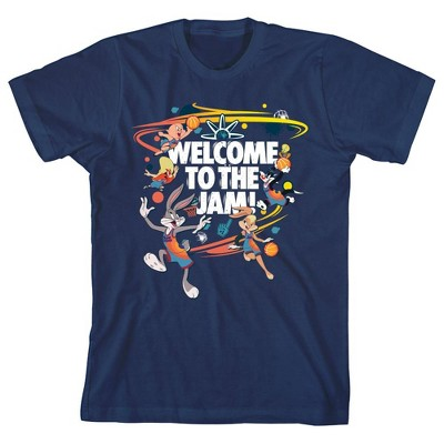 Space Jam 2: A New Legacy Welcome To The Slam Blue Youth Boys Short Sleeve T-shirt