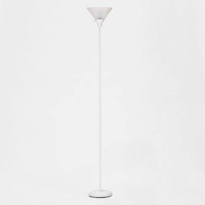 Torchiere Floor Lamp White (Lamp Only)- Room Essentials™