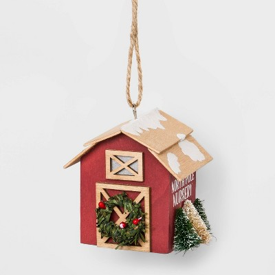 Tree Farm Nursery Barn Christmas Ornament   Wondershop™ by Wondershop
