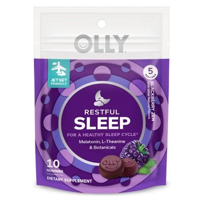 Olly Restful Sleep Gummies Blackberry 10ct Target Inventory