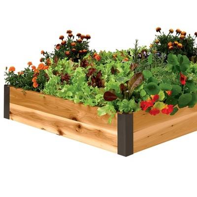3' x 3' Cedar Raised Bed Kit With Aluminum Metal Corners - Gardener's Supply Company