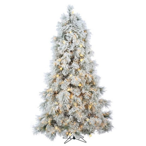 pretty nice cd102 b291c 7.5ft Sterling Tree Company Full Heavily Flocked Northern Pine with 750  Clear Lights and 85 G40 Warm White LED Lights Artificial Christmas Tree