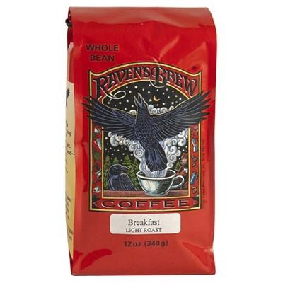Raven's Brew Breakfast Light Roast Whole Bean Coffee - 12oz