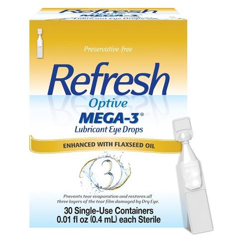 Refresh Optive Mega-3 Preservative Free Eye Drops 30ct - image 1 of 3
