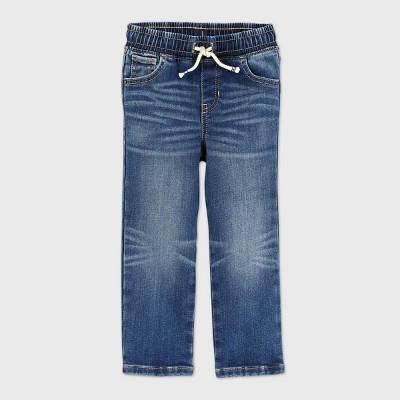 Toddler Boys' Pull-On Brushed Back Straight Leg Jeans - Cat & Jack™ Medium Wash