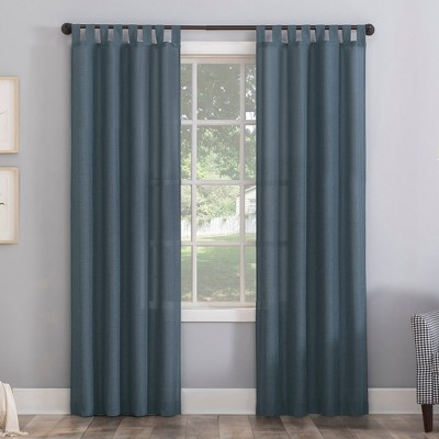 Joshua Heathered Texture Tab Top Semi-Sheer Curtain Panel - No. 918