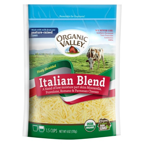 Organic Valley Finely Shredded Italian Blend Cheese - 6oz - image 1 of 1