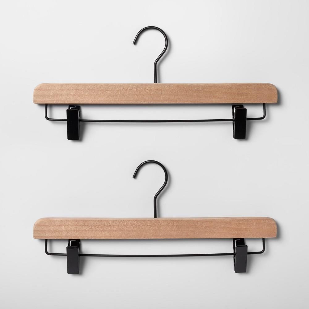 2pk Wood Pants Hanger Natural - Made By Design