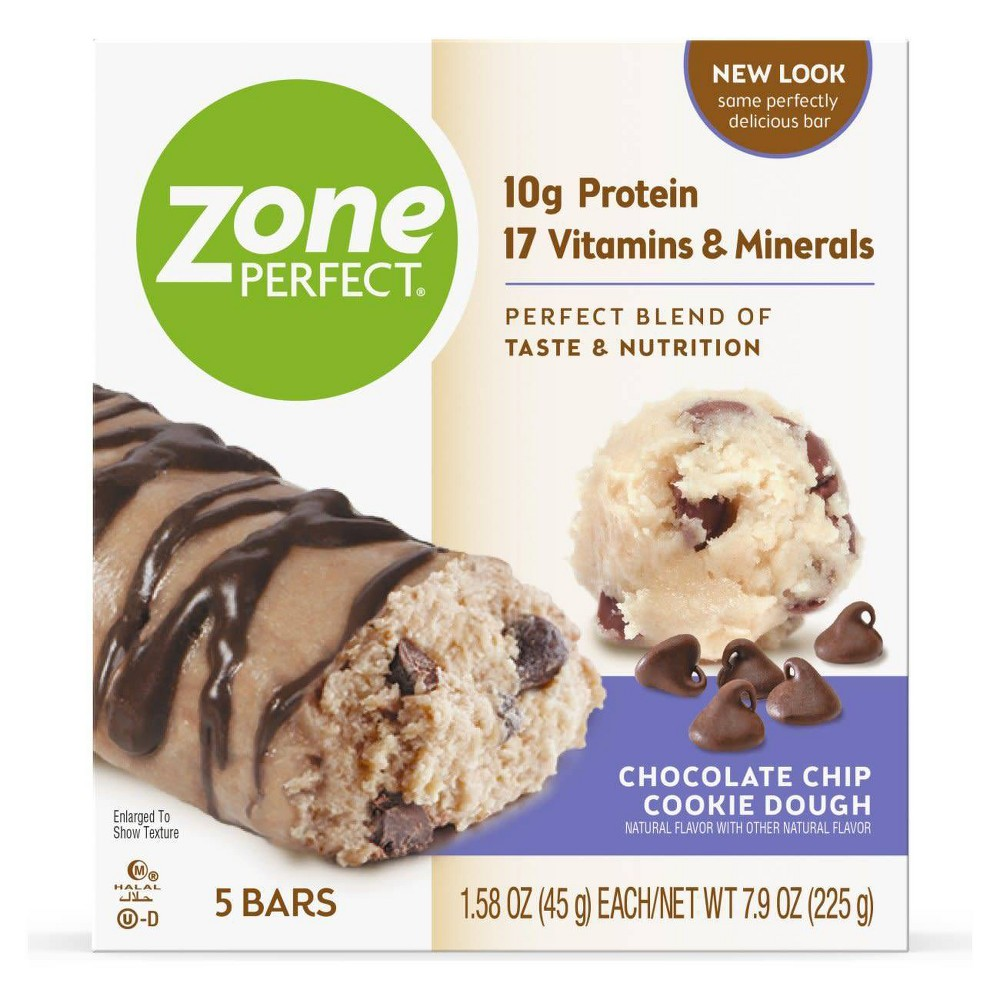 Zoneperfect Protein Bar Chocolate Chip Cookie Dough 5 Ct 7 9oz