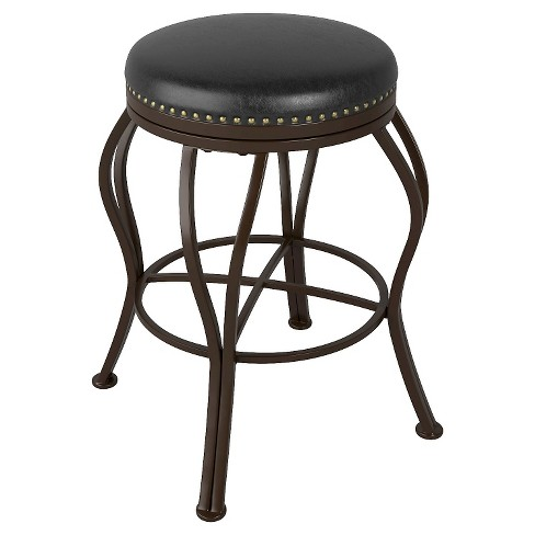 "Bonded Leather 25"" Counter Stool Metal/Brown - CorLiving - image 1 of 3"