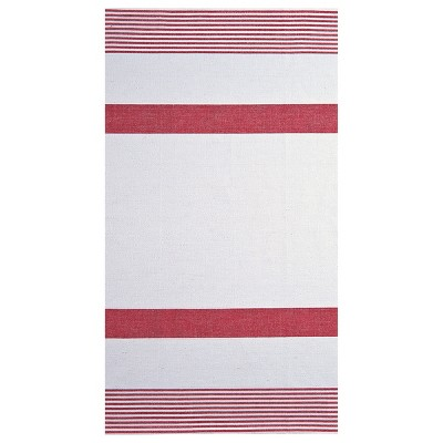 C&F Home Red & White Stripe Woven Cotton Kitchen Towel