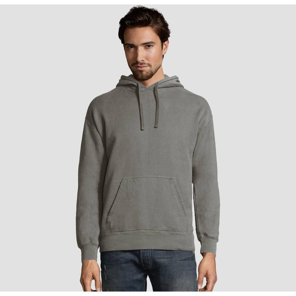 Hanes Men S Big Tall Comfort Wash Fleece Pullover Hooded Sweatshirt Concrete 3xl