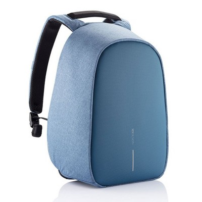 XD Design Bobby Hero Small Anti Theft Travel Eco Friendly Laptop Backpack with USB Port, RFID Protected Pockets, and Hidden Zippers, Light Blue