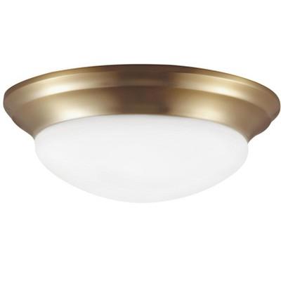 Sea Gull Nash 1 Light Satin Brass Ceiling Fixture 7543593S-848