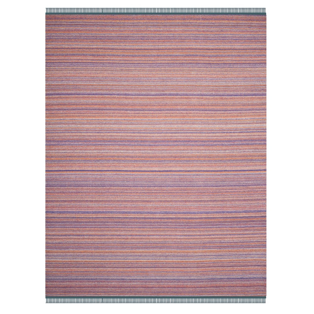 Purple/Rust Stripe Woven Area Rug 8'X10' - Safavieh, Purplenrust