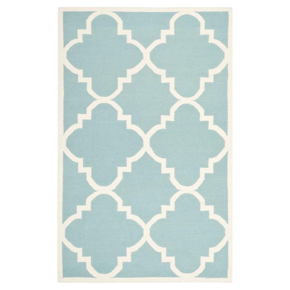 Cheap Mazagan Dhurry Rug - Light Blue Ivory - (5x8) - Safavieh