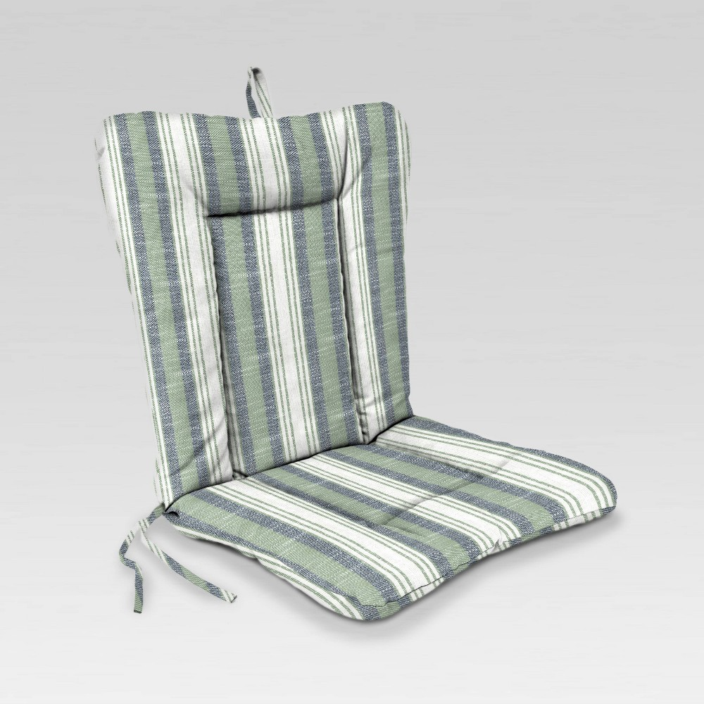 Dinalounge Stripe Outdoor Chair Cushion Fresco Jordan Manufacturing